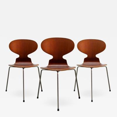 Arne Jacobsen Trio of Arne Jacobsen Ant Chairs