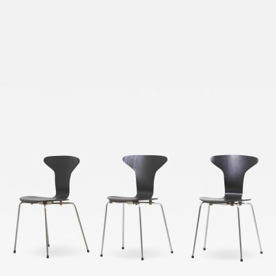 Arne Johansen Set of 3 Mosquito Munkeg rd Dining Chairs by Arne Jacobsen Denmark 1950s