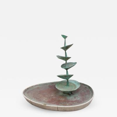 Arne Jones Fran All Till Fall Midcentury Copper Fountain by Arne Jones Sweden 1957