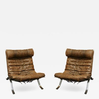 Arne Norell Ari Easy Chairs by Arne Norell