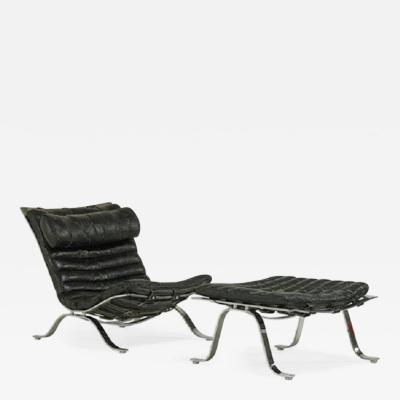 Arne Norell Arne Norell Lounge Chair and Ottoman