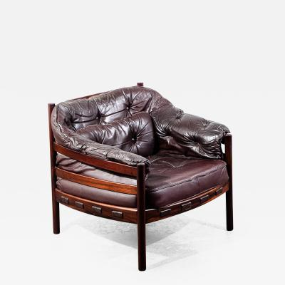 Arne Norell Arne Norell Rosewood and Leather Chair