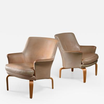Arne Norell Arne Norell pair of Pilot lounge chairs Sweden