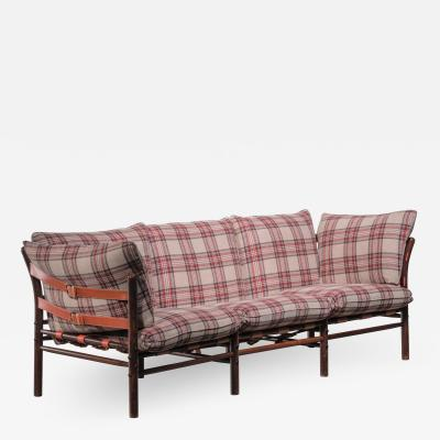 Arne Norell Arne Norell three seater sofa with pleated wool upholstery