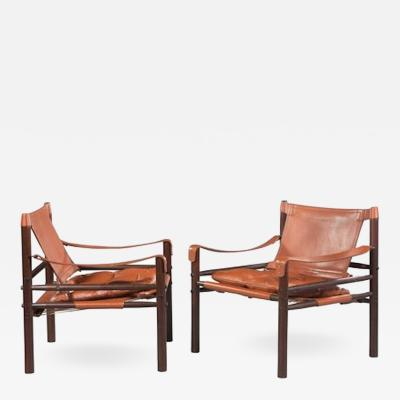 Arne Norell Great Pair of Rosewood Sirocco Safari Chairs by Arne Norell