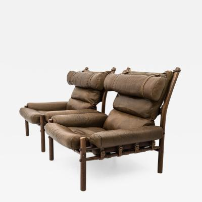 Arne Norell Midcentury Swedish Lounge Chairs Inca by Arne Norell