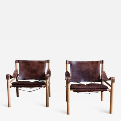 Arne Norell Pair of Arne Norell Scirocco Safari Chairs