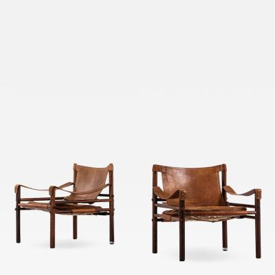 Arne Norell Pair of Easy Chairs model Sirocco designed by Arne Norell