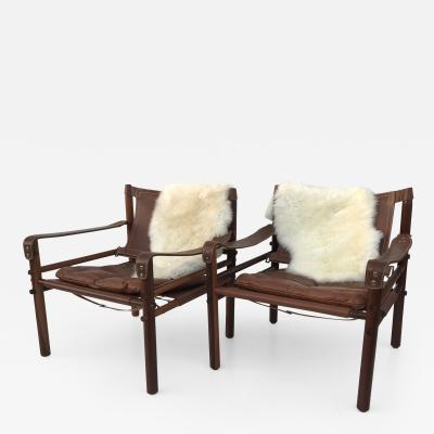 Arne Norell Pair of Rosewood Sirocco Safari Chairs by Arne Norell
