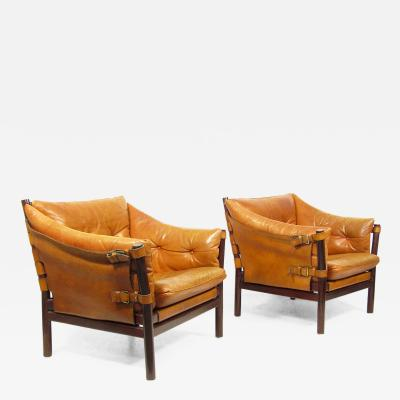 Arne Norell Two Swedish 1960s Ilona Chairs by Arne Norell