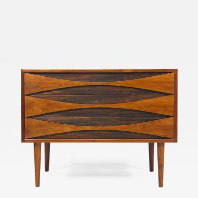 Arne Vodder 1960s Danish Rosewood Chest By Arne Vodder