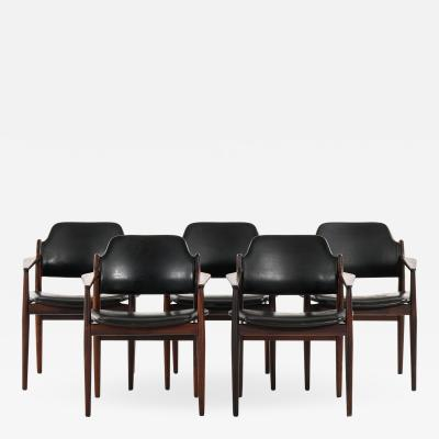Arne Vodder Armchairs Model 62A Produced by Sibast