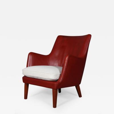 Arne Vodder Arne Vodder Armchair indian red leather