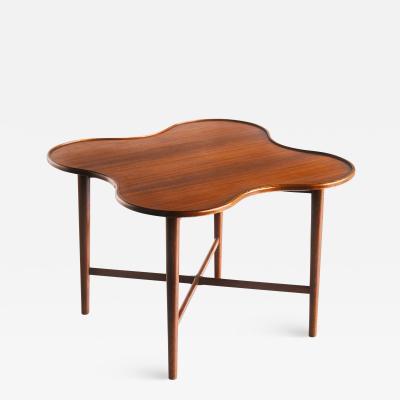 Arne Vodder Arne Vodder Attributed Teak Side Table with Quatrefoil Shape Denmark 1960s