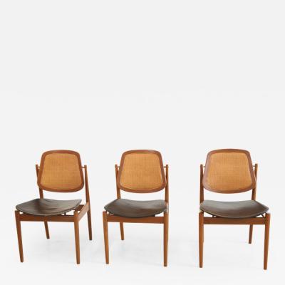Arne Vodder Arne Vodder Dining Chairs Set of 3