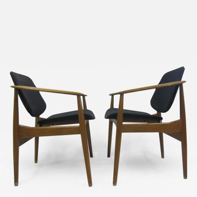 Arne Vodder Arne Vodder Mid Century Arm Chairs by France Daverkosen
