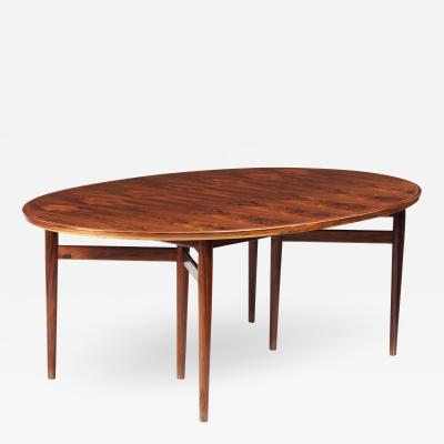 Arne Vodder Arne Vodder Oval Dining Table for Sibast Furniture Denmark 1960s