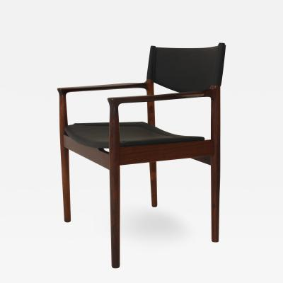 Arne Vodder Arne Vodder Rosewood And Leather Desk Chair