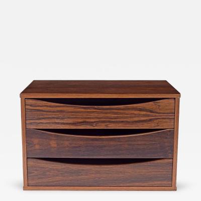 Arne Vodder Arne Vodder Rosewood Desk or Dresser Top Organizer Denmark 1960s
