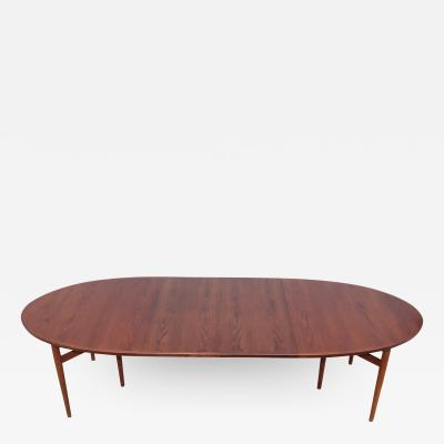Arne Vodder Arne Vodder Teak Oval Dining Table Model 212
