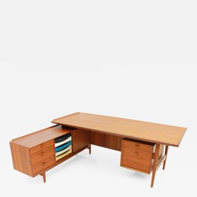 Arne Vodder Arne Vodder Teak Writing Desk with Sideboard Sibast Denmark 1960