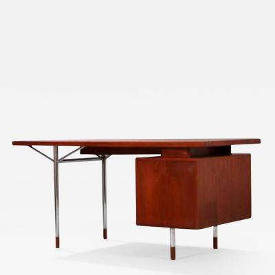 Arne Vodder Arne Vodder Teak and chrome steel desk circa 1960