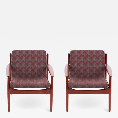 Arne Vodder Arne Vodder Vintage Chaise Lounge Armchair Set of two 1960s for Glostrup