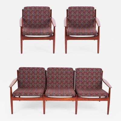 Arne Vodder Arne Vodder Vintage Danish Sofa Chaise Lounge Set of three 1960s for Glostrup