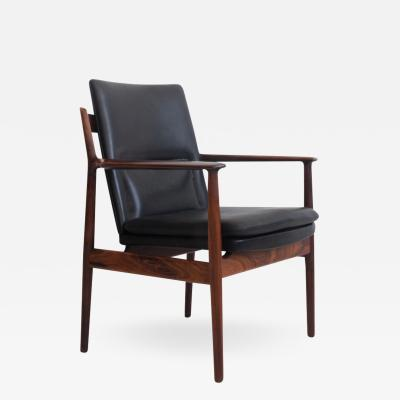 Arne Vodder Arne Vodder for Sibast Black Leather Armchair