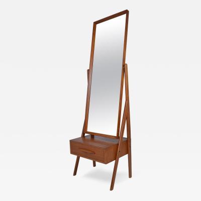 Arne Vodder Danish Modern Cheval Mirror by Arne Vodder Circa 1960s