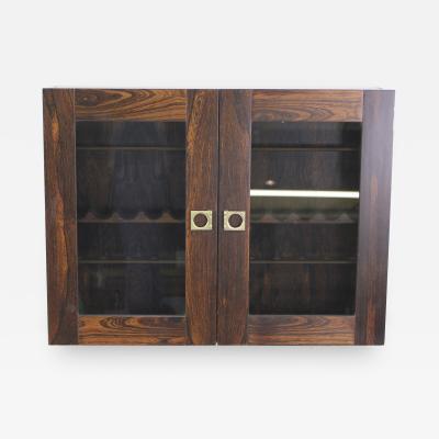 Arne Vodder Danish Modern Rosewood Pipe Cabinet Designed by Arne Vodder