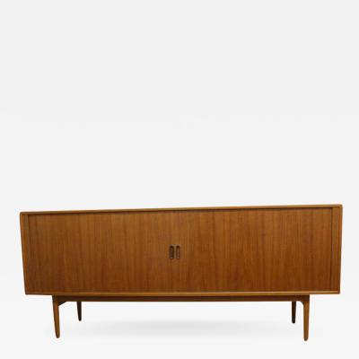 Arne Vodder Danish Teak Credenza with Tambour Doors by Arne Vodder