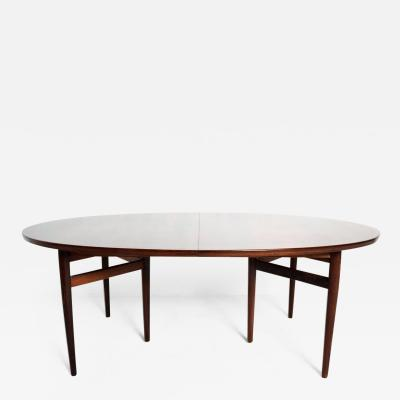Arne Vodder Mid Century Danish Modern Rosewood Oval Dining Table by Arne Vodder for SIBAST
