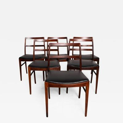 Arne Vodder Mid Century Danish Modern Set of 6 Dining Chairs by Arne Vodder for SIBAST 430