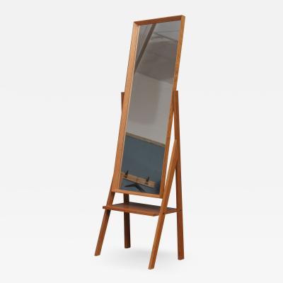 Arne Vodder Mid Century Modern Pivoting Floor Mirror