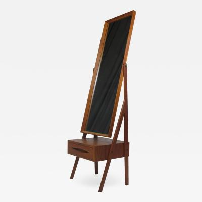 Arne Vodder Mid century Arne Vodder Full Length Pivoting Teak Mirror