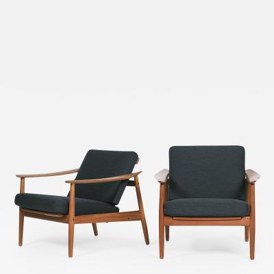 Arne Vodder Pair of Arne Vodder Armchair Model 164 France Sons