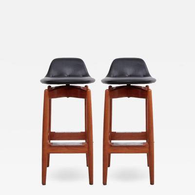 Arne Vodder Pair of Arne Vodder Teak Bar Stools for Sibast Furniture