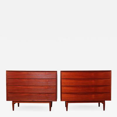 Arne Vodder Pair of Teak Dressers by Arne Vodder for Sibast