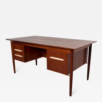 Arne Vodder Rich Teak Receiving Desk Bookshelf Tapered Legs Modern 1960s DENMARK