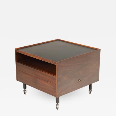 Arne Vodder Scandinavian Rosewood Bar Cart Cabinet Designed by Arne Vodder