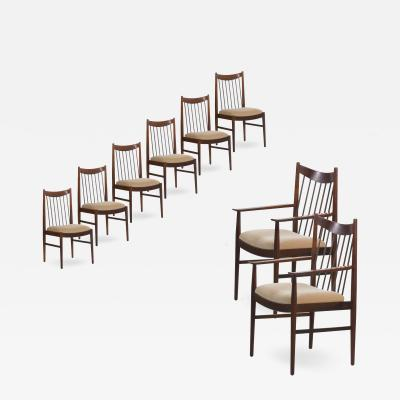 Arne Vodder Set of Eight Danish Modern Rosewood Dining Chairs by Arne Vodder for S M bler
