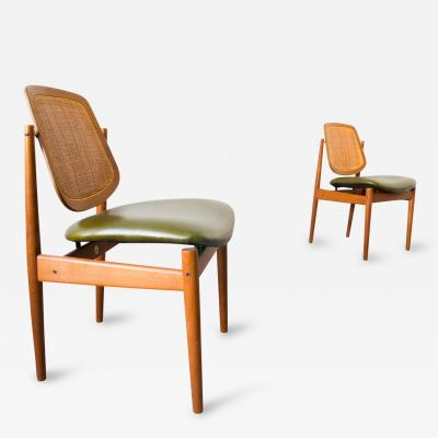 Arne Vodder Set of Four Arne Vodder France Sons F 205 Dining Chairs