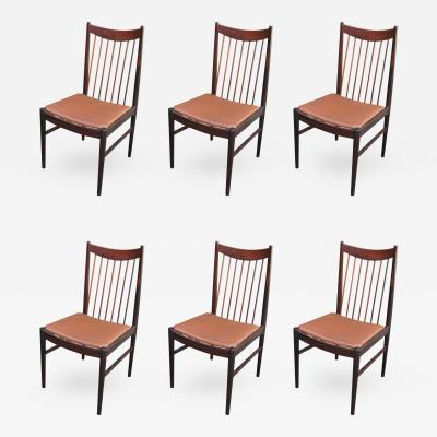 Arne Vodder Set of Six Rosewood Dining Chairs by Arne Vodder for Sibast
