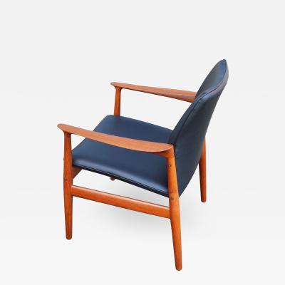 Arne Vodder Teak Desk Occasional Armchair by Arne Vodder for Glostrup