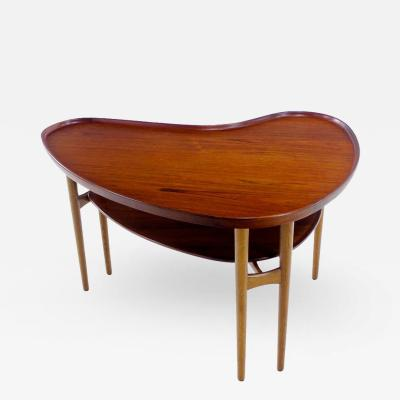 Arne Vodder Very Rare Danish Modern Teak Oak Occasional Table Designed Arne Vodder