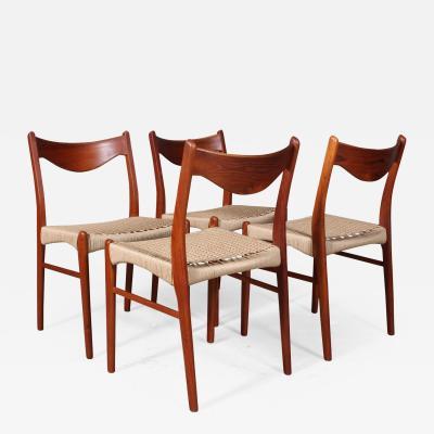 Arne Wahl Iversen Arne Wahl Iversen Glyng re Stolefabrik Four dining chairs 4