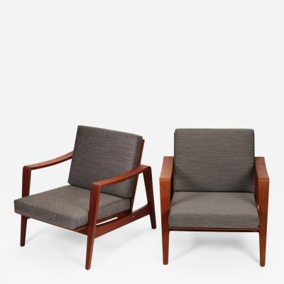 Arne Wahl Iversen Pair of Arne Wahl Iversen armchairs from the 60s