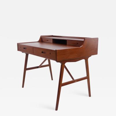 Arne Wahl Iversen Rare Scandinavian Modern Teak Desk Designed by Arne Wahl Iversen