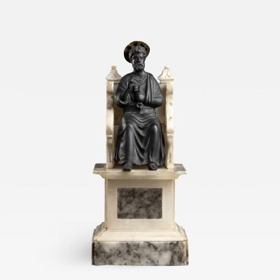 Arnolfo di Cambio Figurative Sculpture of St Peter Bronze Marble Grand Tour After the Antique 20th